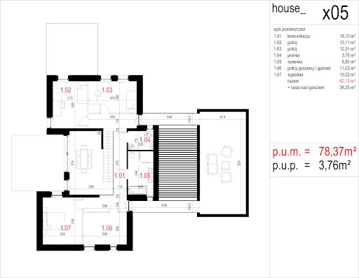 House X05 - Rzut piętra
