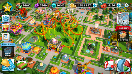 RollerCoaster Tycoon Touch APK screenshot thumbnail 4