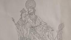 Fragmento del boceto de los hermanos Cava.