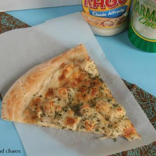 Chicken Alfredo Pizza.