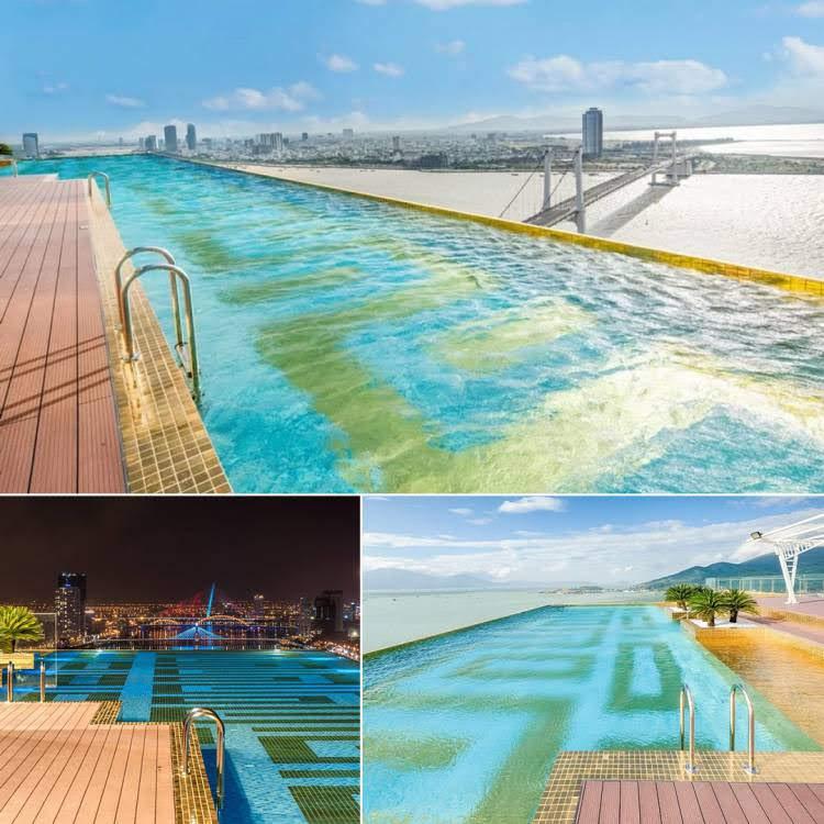 Khách sạn có bể bơi vô cực dát vàng cao nhất & lớn nhất Đông Nam Á