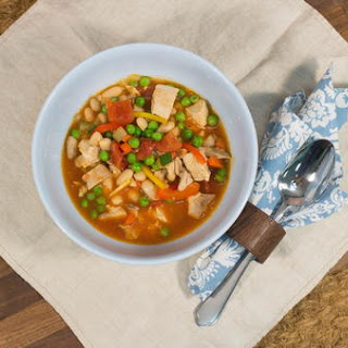 Hearty Chicken and White Bean Soup.