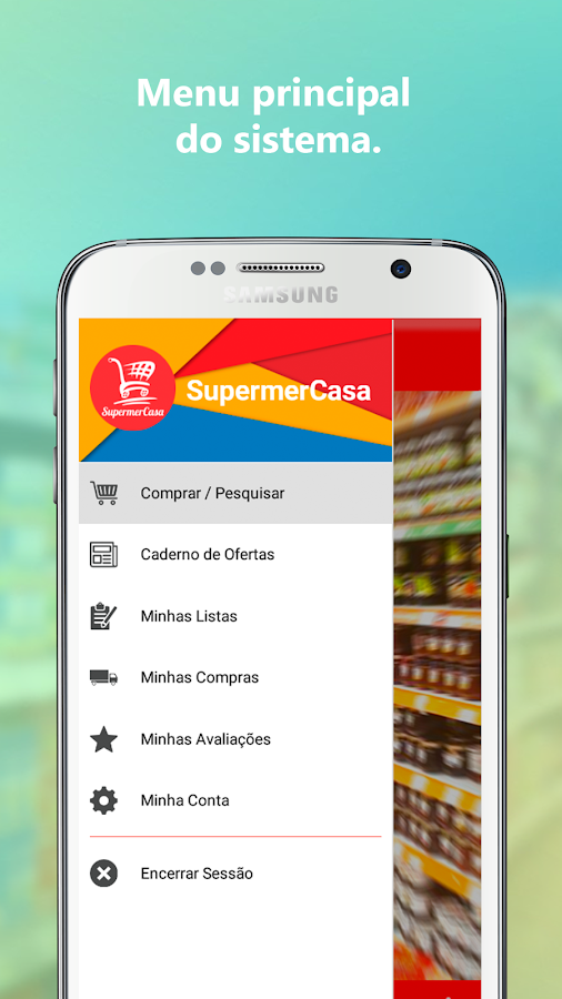 SupermerCasa: captura de tela
