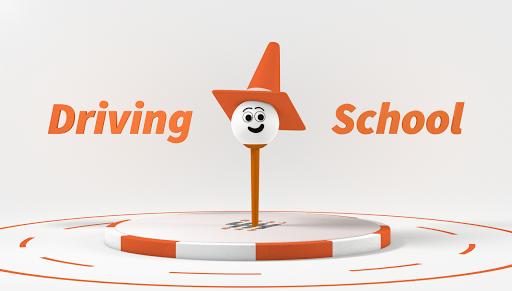 "Illustration titled ""Driving School"""