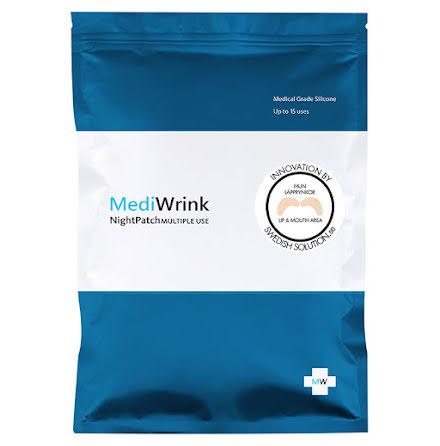 MediWrink Plåster LÄPPAR för Läpprynkor Rökrynkor Nasolabiala Rynkor -2st
