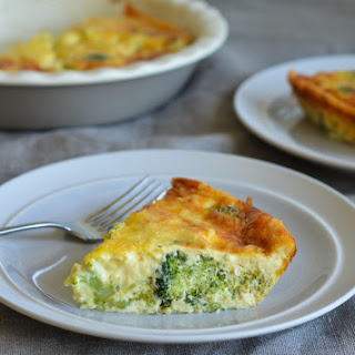 Crustless Broccoli Quiche.