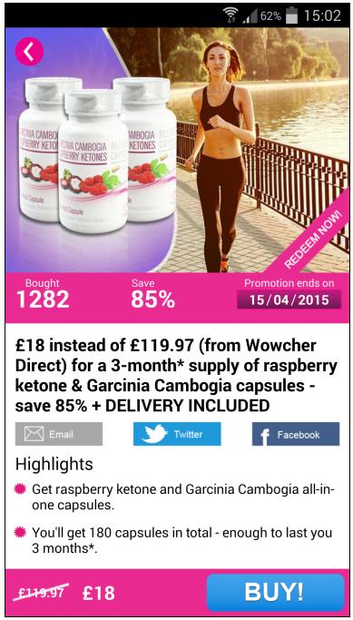 Wowcher – Deals & Vouchers - screenshot