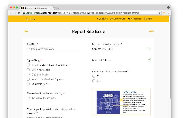 webcompat.com reporter