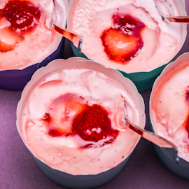 Strawberry mousse by Marius Radu - Food & Drink Candy & Dessert ( mousse, pink, strawberry, desert, food )