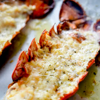 Baked Lobster Tails with Garlic Butter.