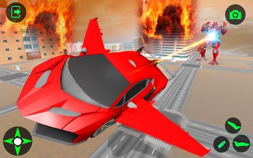 Flying Car- Super Robot Transformation Simulator apkpoly screenshots 7
