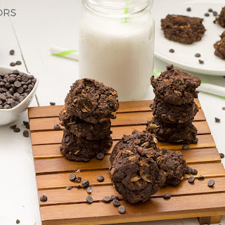 Vegan Triple Chocolate Protein Cookies