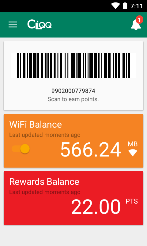CLiQQ Every Day! Rewards- screenshot