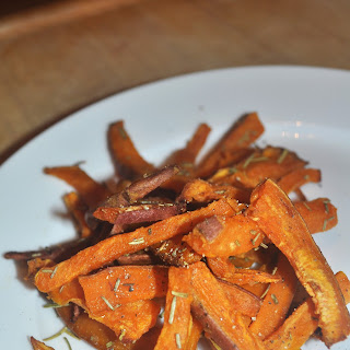 "Garlic & Rosemary Sweet Potato ""Fries"""