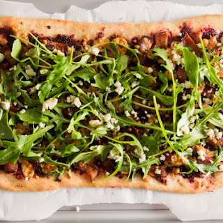 Beet, Blue Cheese And Bacon Pizza