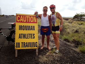 Photo: Jerry, and his wife Nancy, on vacation from Alaska were excited to meet an Ironman out on the course!