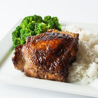 Pan Fried Balsamic Vinegar Chicken Thighs