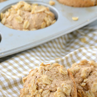 Maple and Brown Sugar Oatmeal Muffins (dairy free, egg free).