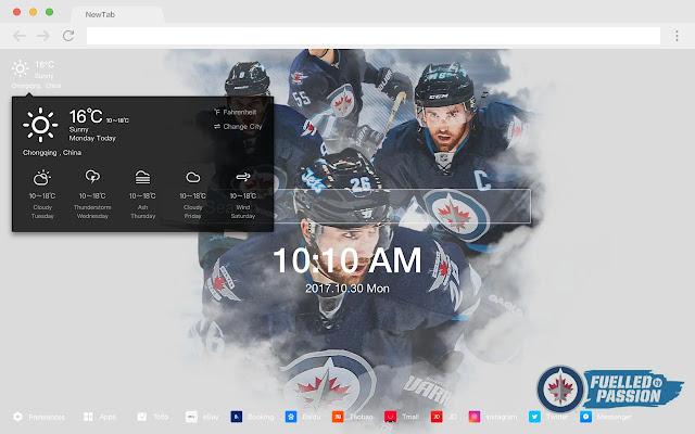 Winnipeg Jets Popular NHL HD New Tabs Theme