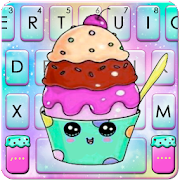 Colorful Galaxy Cupcake Keyboard Theme