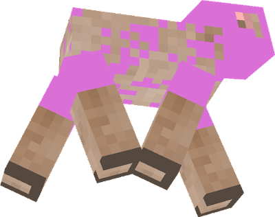 pink sheep from exploiding tnt