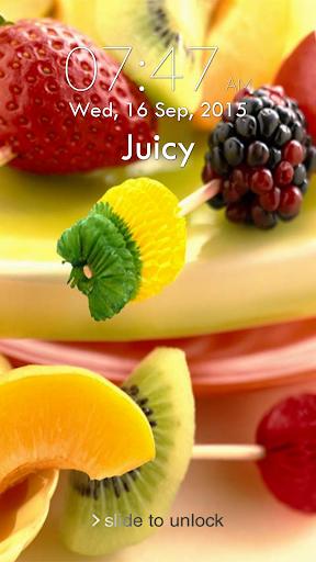 Fruit Berry Keypad Lock Screen