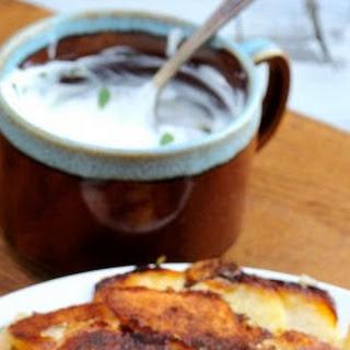 Potato Herb Galette with Garlic Cream