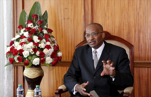 Kenyan central bank governor Patrick Njoroge. REUTERS/THOMAS MUKOYA