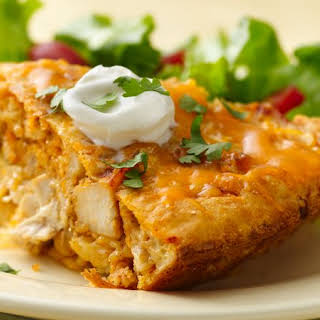 Impossibly Easy Chicken Taco Pie.