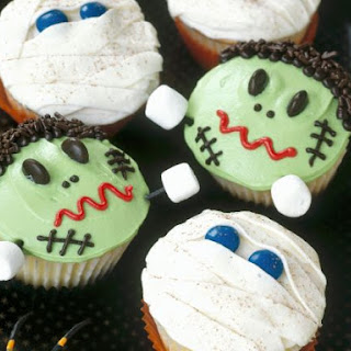 Decorated Scary Character Cakes.