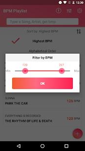 BPM Playlist - náhled