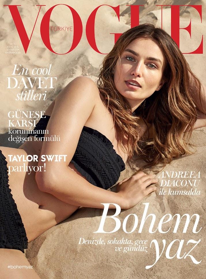 Андреа Диакону Vogue Turkey июль-2016, обложка