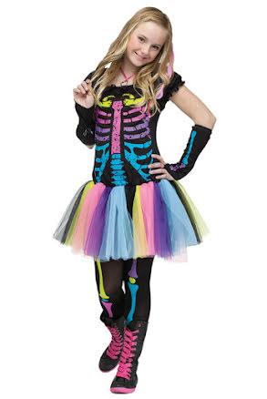 Funky skelettklänning, teen