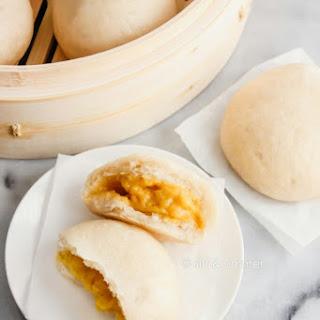 All-Natural Steamed Custard Buns (Lai Wong Bao) Recipe