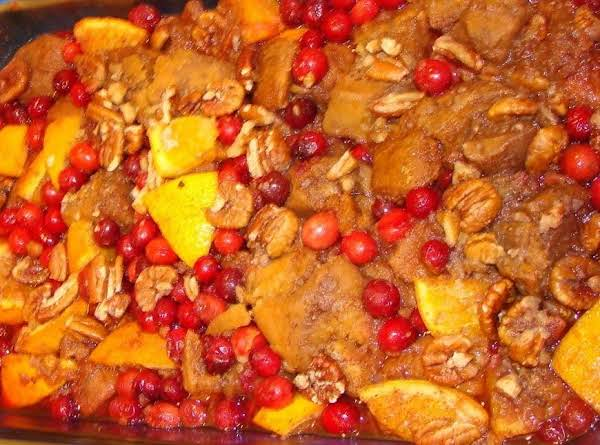Winter Sweet Potato And Cranberry Casserole