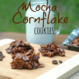 Mocha Cornflake No Bake Cookies.