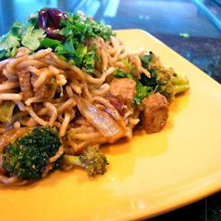 Maggi Noodle Saute W/ Spiced Tofu & Broccoli