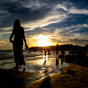 Evening Time Cambodia Beach.) by Sovithya Hang - Landscapes Beaches