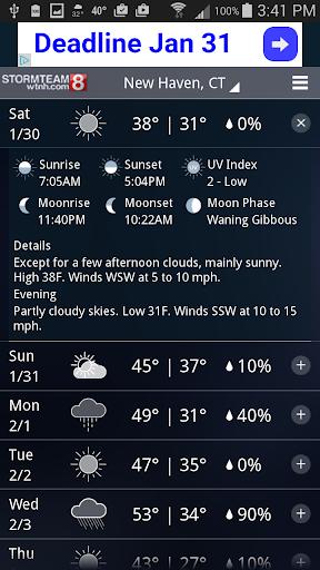 玩免費天氣APP|下載StormTeam8 - WTNH Weather app不用錢|硬是要APP