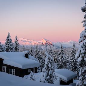 Golsfjellet by Reidar Sørensen - Landscapes Sunsets & Sunrises ( mountain, sunrise )