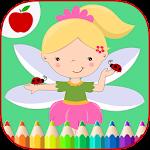 Girls Coloring Little Fairies