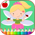 Girls Coloring Little Fairies