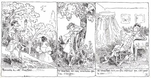 R. Töpffer - roman avec estampes - Monsieur Vieuxbois