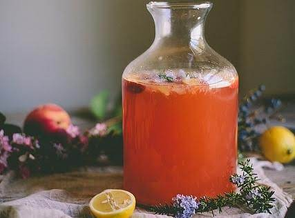 Rosemary Peach Lemonade Recipe