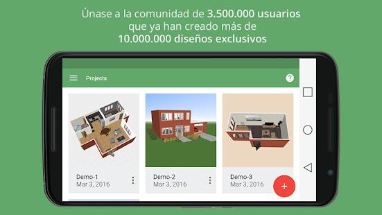 Planner 5d dise o interior aplicaciones android en for Aplicaciones para disenar casas