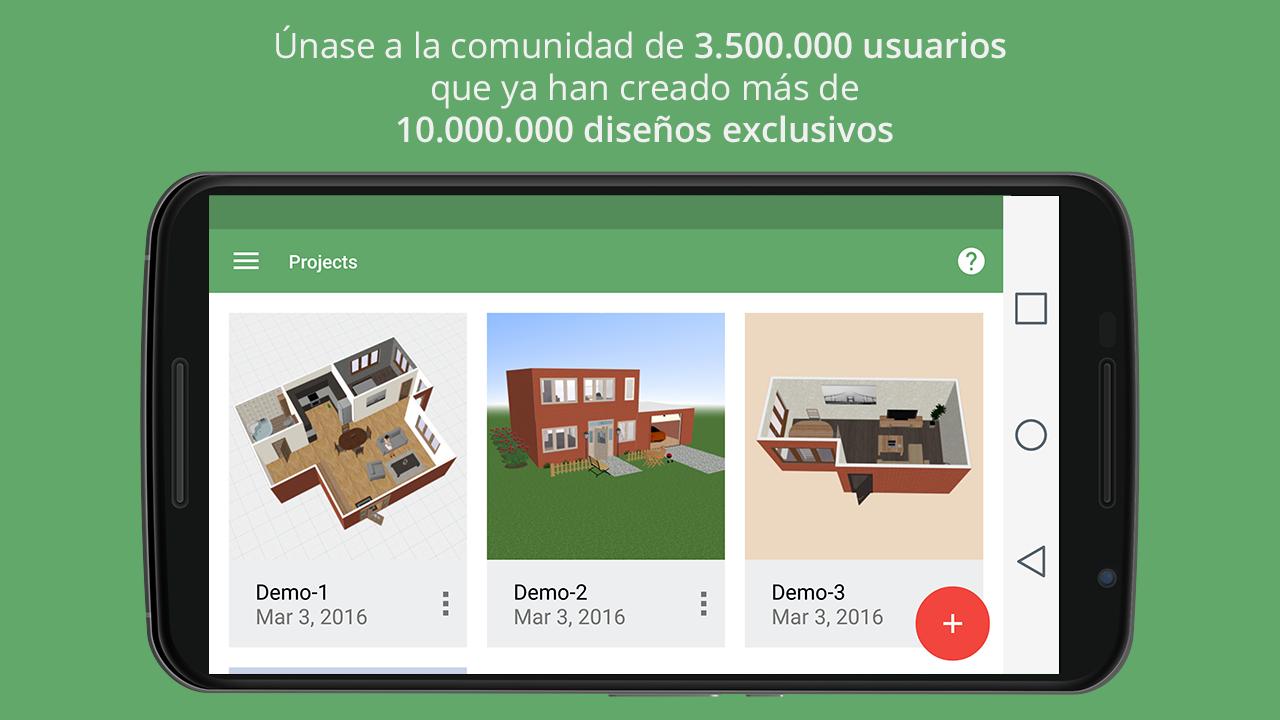 Planner 5d dise o interior aplicaciones de android en - App diseno de interiores ...