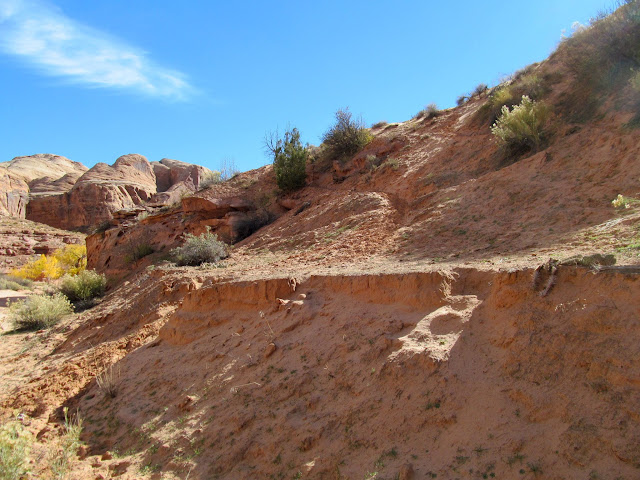 Trail through a sandy slope