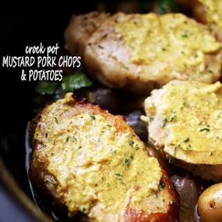 Crock Pot Mustard Pork Chops and Potatoes.