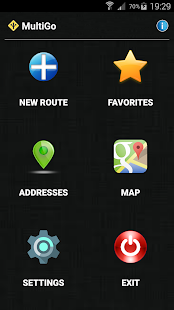 MultiGo route planner and GPS Screenshot