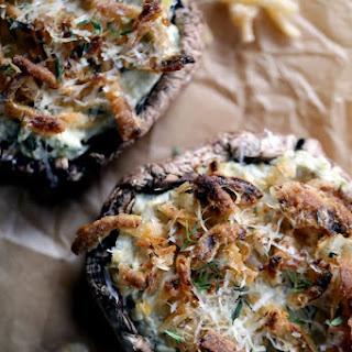 Artichoke and Spinach Stuffed Portobellos.